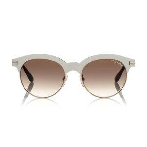 Tom Ford Angela TF438 28F Ivory Gold Sunglasses
